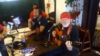 LeftCoast Willie on KSON John & Tammy in the Morning- Blues Eyes Cryin