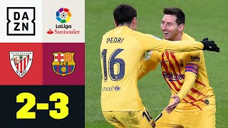Youngster Pedri & Doppelpacker Messi machen Sieg perfekt: Bilbao - FC Barcelona 2:3 | LaLiga | DAZN