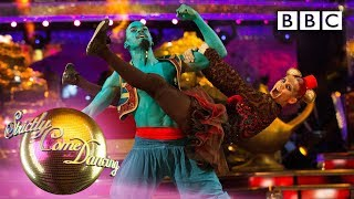Dev and Dianne dance Street Commercial to 'Friend Like Me' | Movie Week - BBC Strictly 2019