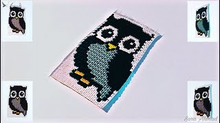 How to make 3d origami a owl painting