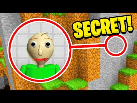 Minecraft : I FOUND BALDIS SECRET BASE! (Ps3/Xbox360/PS4/XboxOne/PE/MCPE)