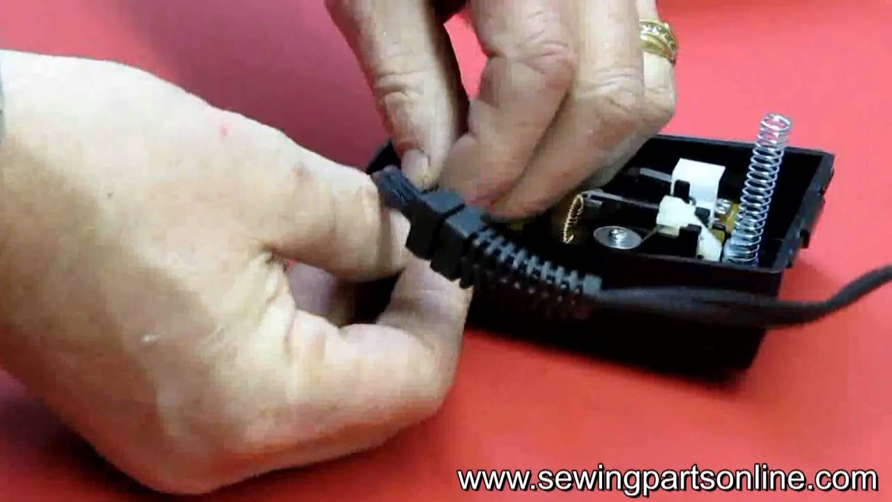 hight resolution of how to install a cord on a sewing machine s foot control