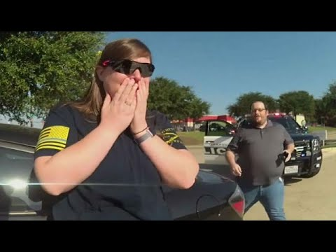 Texas traffic stop turns into surprise marriage proposal