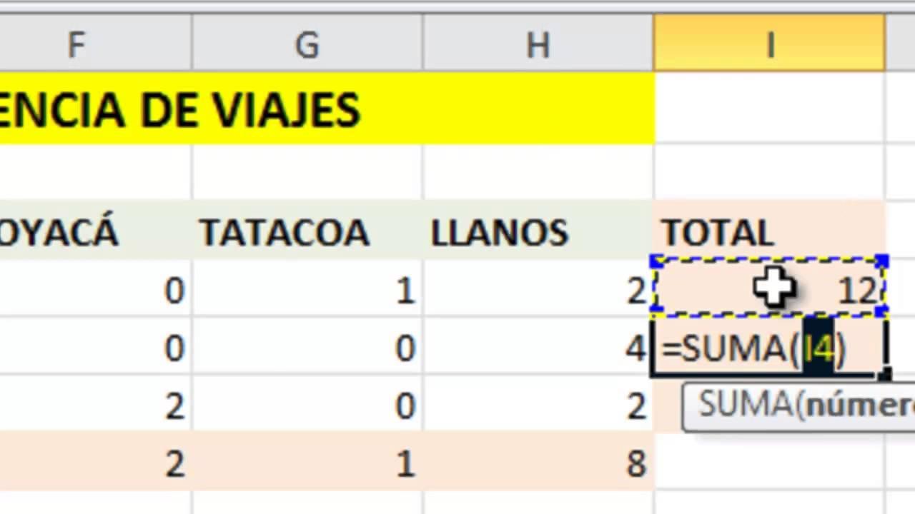 Excel Básico: Ejemplo Agencia de Viajes - YouTube