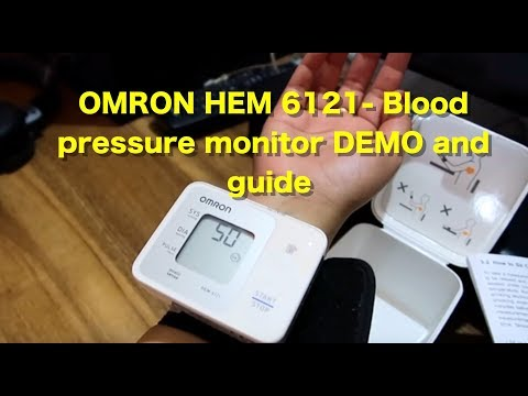 omron-hem-6121-fully-automatic-wrist-type-digital-blood-pressure-monitor_-unboxing,-demo-and-review