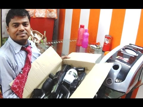 Eureka Forbes Euroclean X-Force Vacuum Cleaner Unboxing and Attachment Overview