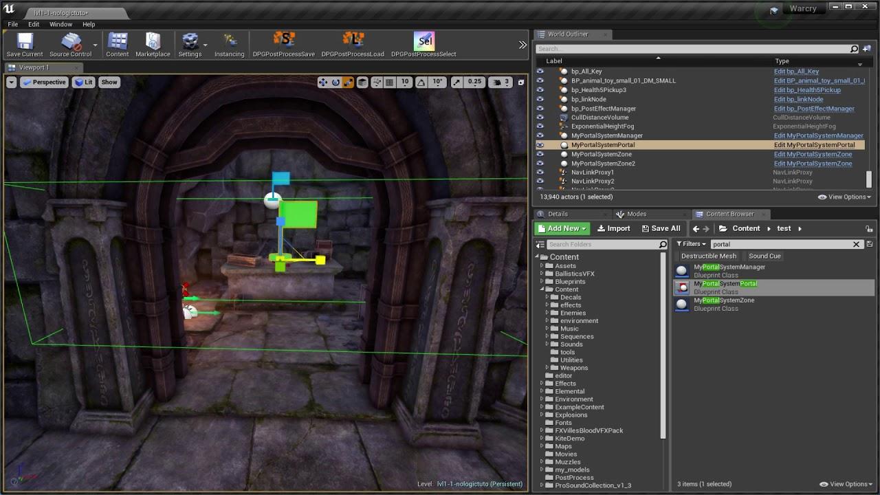 Dynamic Lighting Portal System for UE4