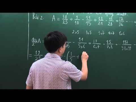 Toán Bồi Dưỡng Học Sinh Giỏi lớp 5 - Dãy phân số có quy luật - Thầy Bùi Minh Mẫn [Hocmai.vn]
