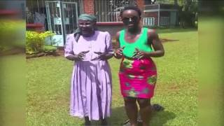 Lupita Nyong'o being taught how to dance by her granny