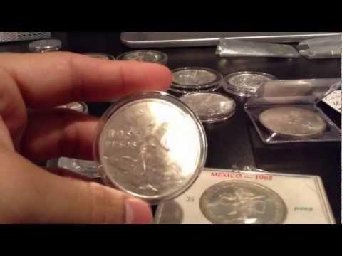 Mexican silver coins