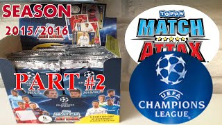 BOX #2 ☆ CHAMPIONS LEAGUE 2015/2016 ☆ MATCH ATTAX ☆ Topps