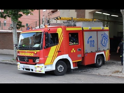 Bomberos Madrid Coche CO-31 hacia un servicio // Madrid Fire Department Small Pump CO-31
