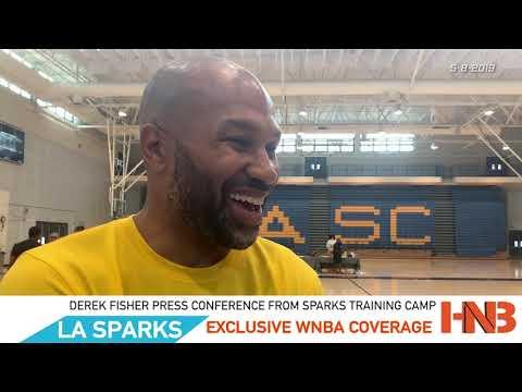 Derek Fisher LA Sparks Training Camp Post Conference   Hoops N  Brews