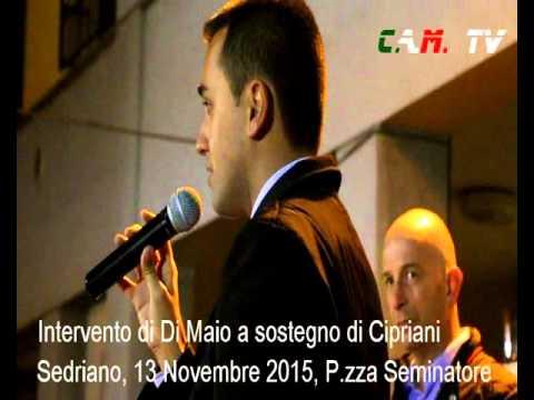 Sedriano, in Piazza Seminatore, l'intervento di Di Maio per sostenere Cipriani