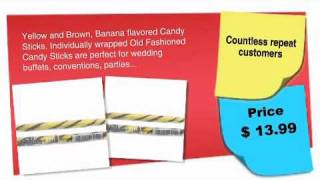 Old Fashioned Hard Candy Sticks 80ct.: Old Fashioned Banana