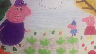 Grandpa Pig's Garden *** #Peppa #Drawing And #Coloring For #babies #toddlers #kids