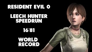 "Resident Evil 0 - Leech Hunter Speedrun - 16'81"" [World Record]"
