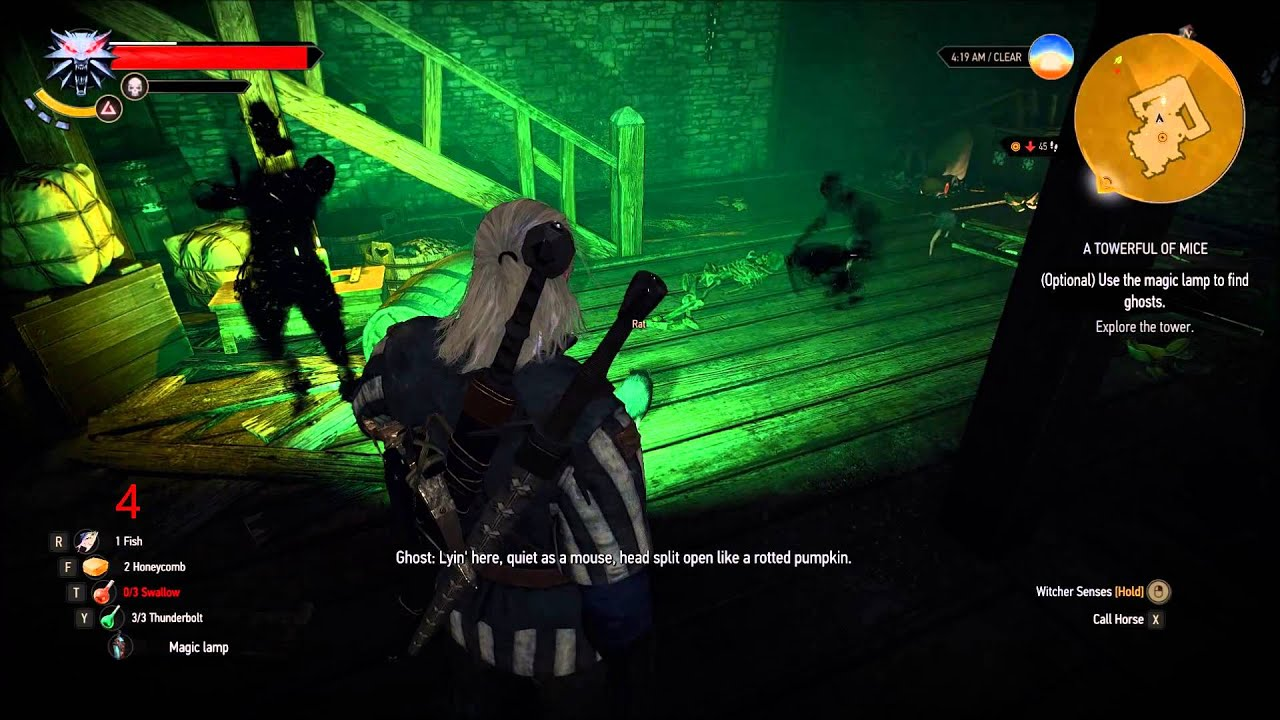The Witcher 3: A Towerful of Mice Ghost Locations and ...