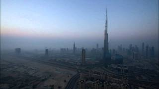 The Sun Set and Rise over the Burj Khalifa, Timelapse Dubai