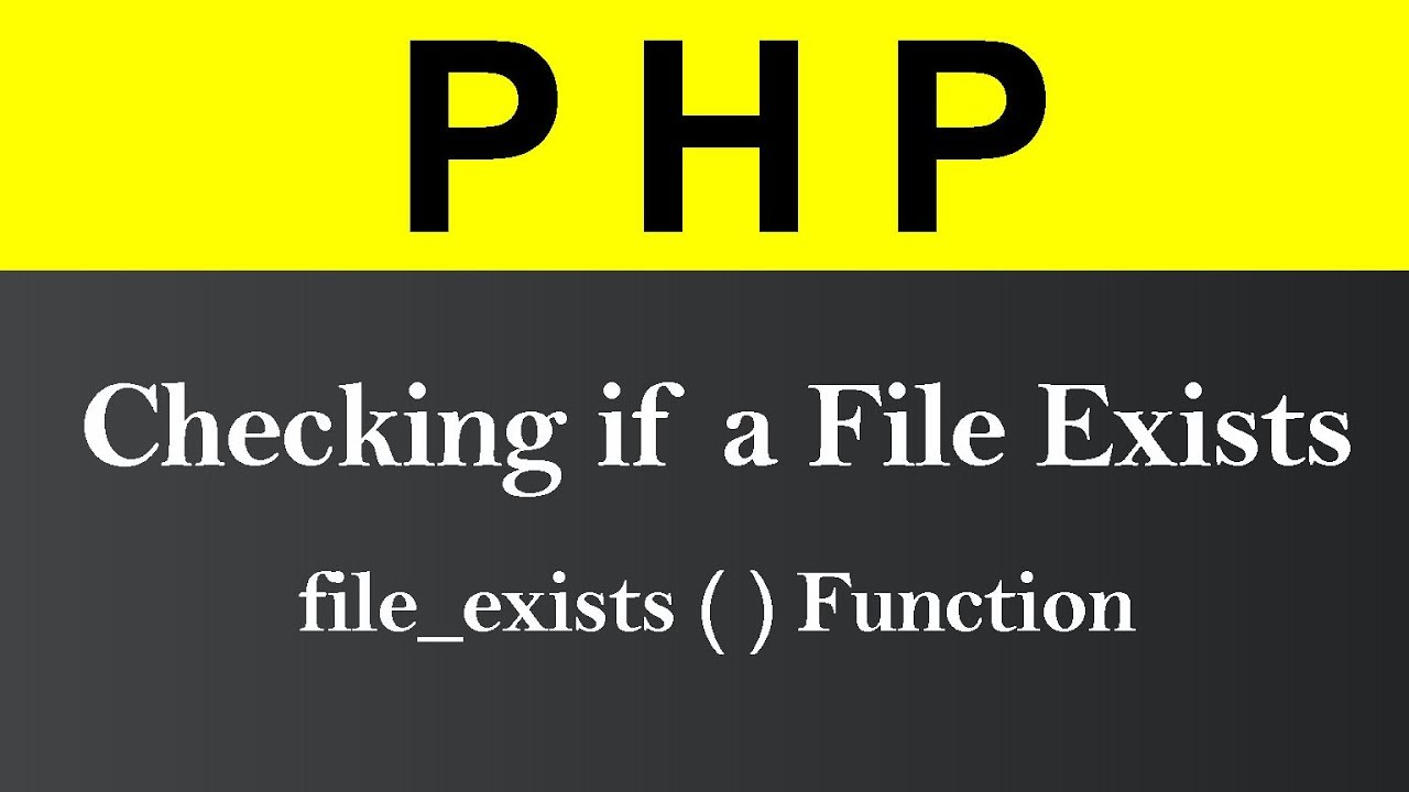 Checking if a File Exists in PHP (Hindi)
