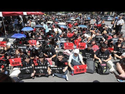 「撐香港,反送中」台灣民間團體立法院外聲援香港反送中活動