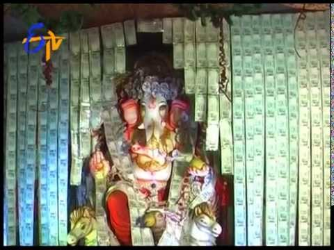 Another Currency Ganesh Idol In Kothagudem Of RR District