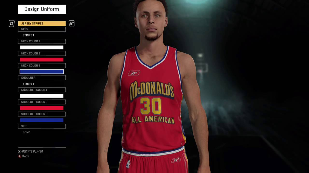 7270f7f98bf6 NBA 2K16 2003 Mcdonalds All-Americans jersey and court tutorial ...