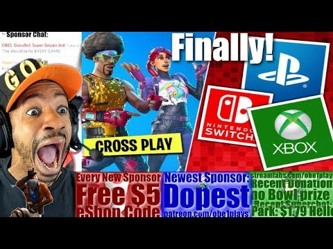 PLAYSTATION CROSSPLAY BEGINS TODAY! FORTNITE FIRST GAME!