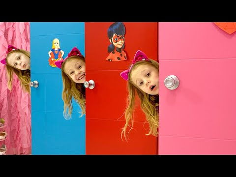 Nastya turns into magical costumes for kids