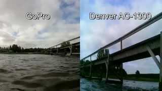 GoPro vs. Denver AC-1300 under water