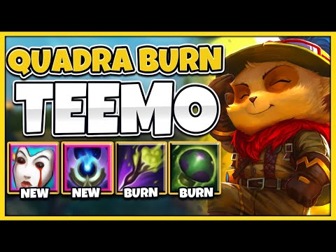 *4 BURNS AT ONCE* SEASON 11 TEEMO IS 100% BEYOND BROKEN (1 SHROOM 1 KILL) - League of Legends