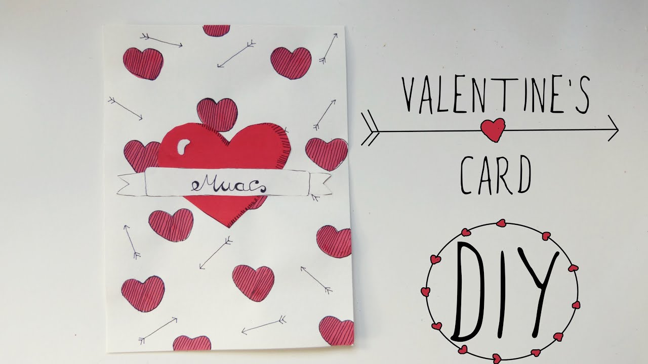 Valentines Day crafts love card  Handmade gift for boyfriend