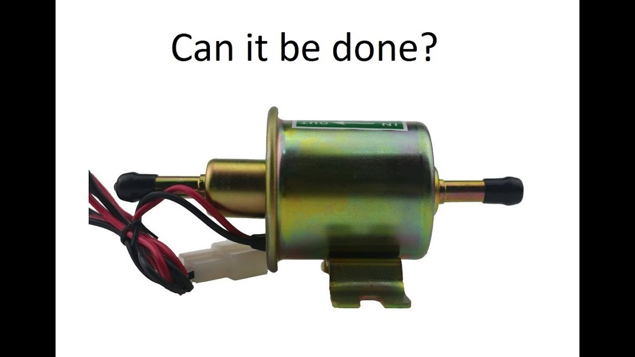 small resolution of lawn tractor electric fuel pump upgrade