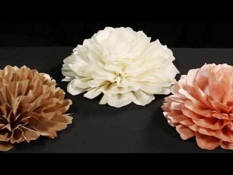 Wholesale Jumbo Taffeta Fabric Flowers (for DIY Wedding Decor)