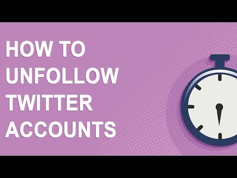 How To Unfollow Twitter Accounts