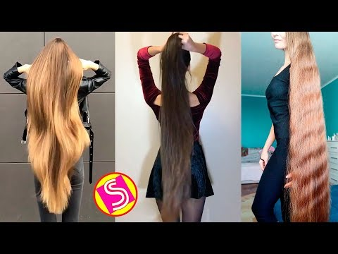 New Oddly Satisfying Hair Video 2018 | Extremely Long Hair Girls - Rapunzels in Real Life