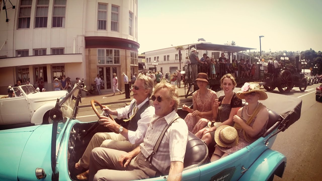 Art Deco Vintage Car Ride, Napier, New Zealand. HD and IN OLD ...