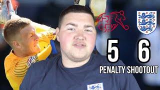 ENGLAND WIN ON PENALTIES!!! | SWITZERLAND 0-0 ENGLAND (5-6 PENS) | ENGLAND FAN REACTION