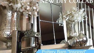 Dollar Tree Up-Cycle Challenge: DIY Pottery Barn Inspired Eagan Mirror