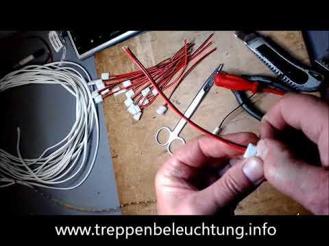 Vorbereitung der elektrischen Installation - Treppenbeleuchtung ...