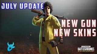 PUBG JULY UPDATE - NEW GUN, NEW SKINS, FIRST PERSON AND MORE - PLAYERUNKNOWNS BATTLEGROUNDS NEWS