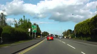 Driving Along London Road & Whittington Road, Worcester, Worcestershire, UK 9th June 2013