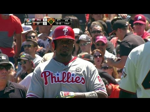 PHI@SF: Howard plates Rollins with single to right