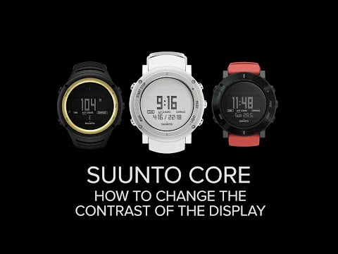 Suunto Core - How to change the contrast of the display