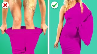 COOL CLOTHES HACKS ! 11 Amazing Girly Clothes DIY Transformation Ideas