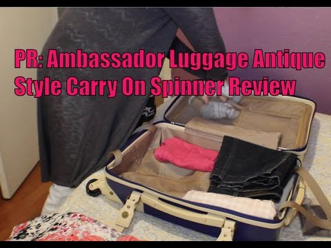 PR: Ambassador Luggage Antique Style Carry On Spinner Review - YouTube