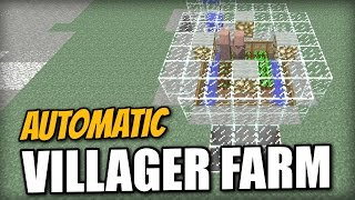 Minecraft PS4 -  AUTOMATIC VILLAGER FARM - Tutorial ( PE / XBOX / PS3 / WII U )