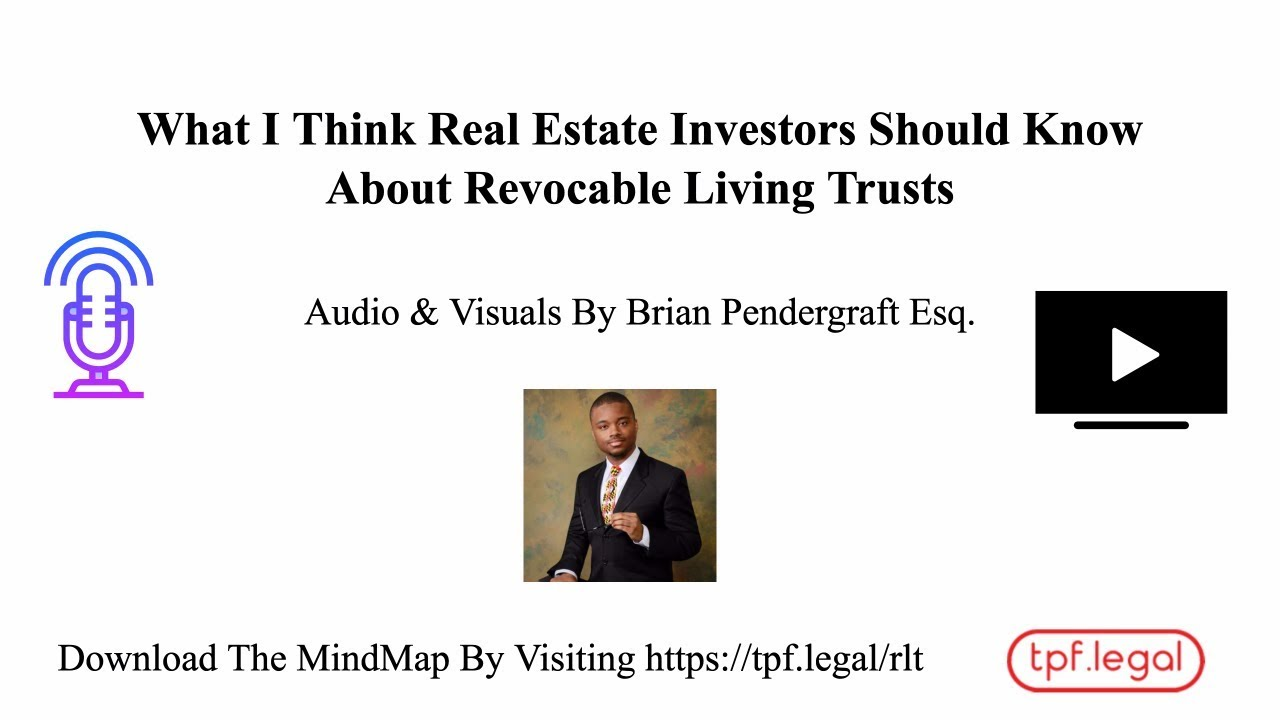 revocable living trusts for real estate investors - the pendergraft