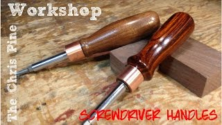 How To Make Wooden Screw Driver Handles.