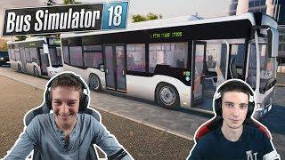 DEUX CHAUFFEURS SUR BUS SIMULATOR 18 !